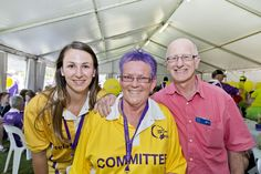 Cheryl Cooper (organiser of the Survivors & Carers afternoon tea) with Elissa Mead & Dr Stephen Ackland