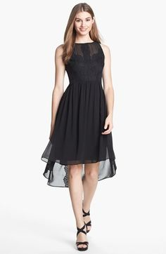 Looking for 1 nice cocktail dress for cruise in Aug. to Alaska. Vince Camuto High/Low Chiffon Dress available at #Nordstrom