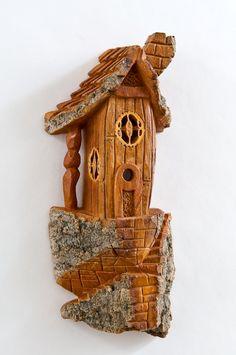 Unique birdhouse.