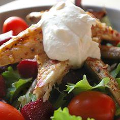 Smoked Mackerel Salad - A dish which beats the clock and hits the spot! - www.fishisthedish.co.uk/recipes/smoked-mackerel-salad