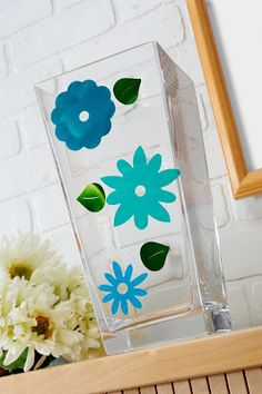 Great kids/parents activity - make glass clings with paint and Mod Podge!