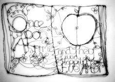 Wire art fairytale book