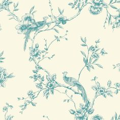 Chinoise Teal wallpaper by Arthouse