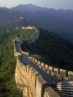 China's Great Wall...(5,500 miles) long from Hushan in Liaoning and Jiayuguan Pass in Gansu. (12)