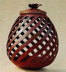 Beautifully carved gourd