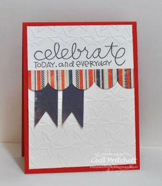 Loves Rubberstamps Challenge Blog - Challenge 58 - Red, White & Blue - Design Team Member - Ceal Pritchett - Using Paper Smooches