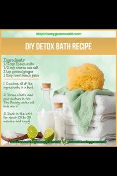 DIY Detox Bath Recipe! This says lemon but shows a lime. . .