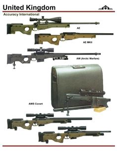 Accuracy International Sniper Rifle AE and AW Series