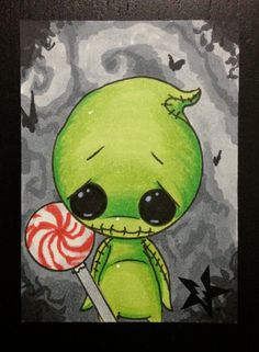 Sugar Fueled Oogie Boogie Nightmare Before by Sugarfueledart, $4.00