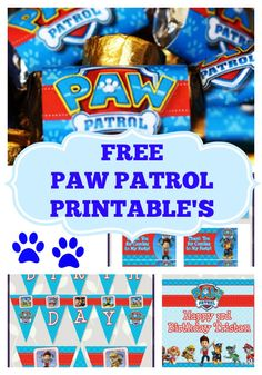 FREE Paw Patrol Birthday Party Printables – Little Wish Parties 4th Birthday Parties, Birthday Fun, Birthday Ideas, Third Birthday, Fete Julie, Fete Laurent, Cumple Paw Patrol, Paw Patrol Cake, Puppy Party