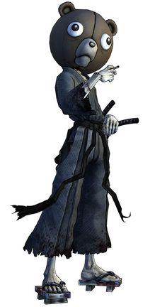 afro samurai kuma -I can never look at teddy bears in the same way again...