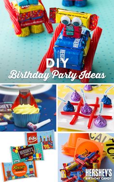 Searching for some super-sweet ideas to throw the perfect kids birthday party? With these fun ideas and HERSHEY'S Birthday candy, there's something for everyone. From fun Robot Treats to Tic Tac Toe with KISSES Chocolates—give them a birthday they'll treasure forever! Let's Birthday!