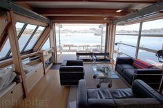 Passive solar Sausalito houseboat is two stories and designed to adapt to weather | Inhabitat - Green Design, Innovation, Architecture, Green Building