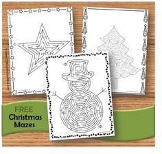 FREE Christmas Mazes for christmas centers, christmas break, christmas worksheets for kids