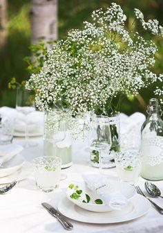 Kesäinen kattaus SK 5-6/13 liite Flora, Table Settings, Romantic, House Design, Table Decorations, Party, Celebration, Decorating Ideas, Crafts