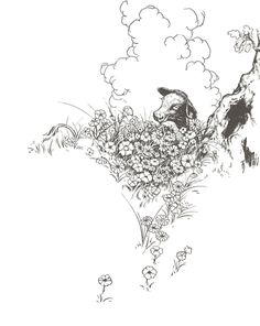Ferdinand the Bull from Munro Leaf's childrens book, The Story of Ferdinand.