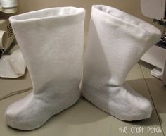 "How to make felt ""booties""para disfraces"