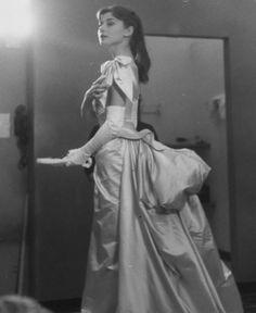 Audrey Hepburn photographed during the production of Mayerling, 1957.
