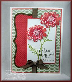 Field Flowers in Calypso! by SandiMac - Cards and Paper Crafts at Splitcoaststampers