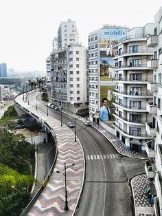 Oran, Algeria le boulevard front de mer actuellement appeler BOULEVARD DE L4aln ARMÉE DE LA LIBÉRATION NATIONALE