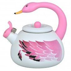 Chaleira Flamingo Esmaltada