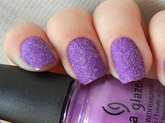 14 Great Nail Art Designs of All Colors for Girls - 101 NailDesign Purple Glitter Nails, Purple Nail Art, Glitter Nail Polish, Great Nails, Love Nails, How To Do Nails, Funky Nails, Nail Art 2014, New Nail Art