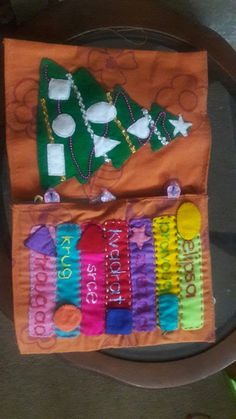 #quietbook #shapes #serbian #christmastree #felt #handmade