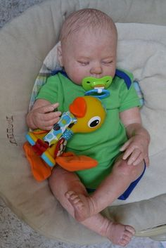 OOAK Reborn baby boy with 3d skin Kyle  baby Newborn doll