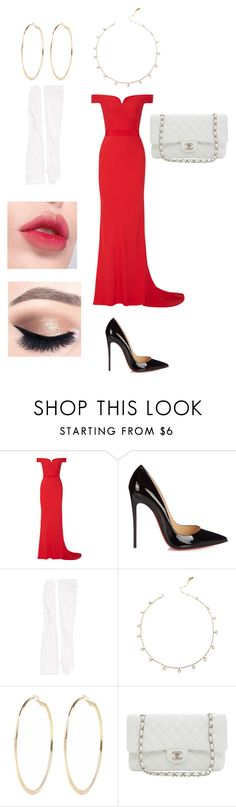 """Inspired by : A beautiful woman"" by stephrodrigues-1 on Polyvore featuring moda, Alexander McQueen, Christian Louboutin, Carolina Amato, River Island, Laneige e Karl Lagerfeld"