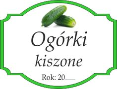 Naklejka na kiszone ogórki Food Crafts, Pickles, Printables, Diy, Bricolage, Print Templates, Do It Yourself, Pickle, Homemade