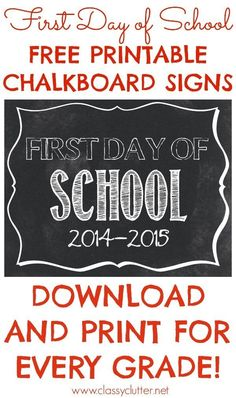 Free Printable Chalkboard Sign | Community Post: 20 Free Printable First Day Of School Signs