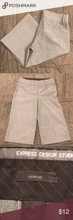 Express Editor Wide Leg Capris Size 6 Express Gray Wide Leg Capris.  In great pre-owned condition. Express Pants Capris