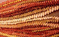 Kahelelani Lei    Ni'ihau shells strung together by Kele Kanahele. This incredible 10 strand lei sold for over 9K