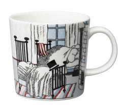 """Arabia Moomin mug 2015 Hibernation. This mug is for sale for a limited time only."" (quote) Finnish design via ihanaiset.fi"