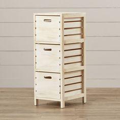 Found it at Wayfair - Oliver 3 Drawer Crate Chest Pallet Furniture Designs, Crate Furniture, Dresser Plans, Pallet Dresser, Crate Bench, Diy Wooden Crate, Diy Drawers, Home Organisation, Room Planning