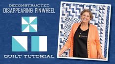 "Make a ""Deconstructed Disappearing Pinwheel"" with Jenny Doan of Missouri... Msqc Tutorials, Quilting Tutorials, Quilting Blogs, Pinwheel Quilt Pattern, Quilt Patterns, Star Patterns, Missouri Quilt Tutorials, Layer Cake Quilts, Layer Cakes"