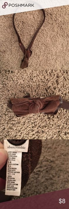 Abercrombie Kids brown leather belt Is worn but still very wearable and cute. See pics for signs of wear. abercrombie kids Accessories Belts