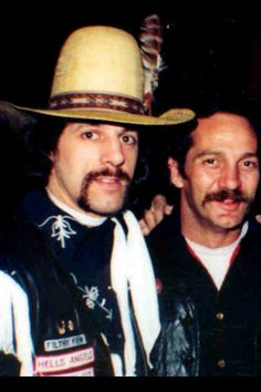 "Chuck Zito and Sonny Barger. From Chuck Zito: ""This picture was taken  Dec. 5, 1979 at the Hells Angels New York City's 10th Anniversary at the Great Gildersleeves on the Bowery!"""