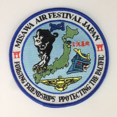 Misawa Air Festival Japan Patch Embroidered Protecting Pacific Military US Base #SewOn