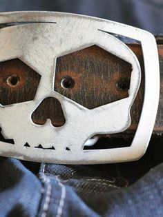 The Skull Buckle and Bottle Opener