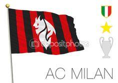 Bandiera del Milan calcio — Vettoriali Stock © frizio #117260436