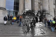 Awesome collection of images by Sergei Larenkov overlaying photos of the siege…