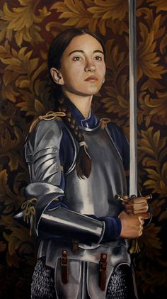 """St. Joan of Arc. When Joan was about 12 years old, she began hearing """"voices"""" of St. Michael, St. Catherine, and St. Margaret believing them to have been sent by God. These voices told her that it was her divine mission to free her country from the English and help the dauphin gain the French throne. They told her to cut her hair, dress in man's uniform and to pick up the arms."""