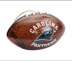 Glass football ornament