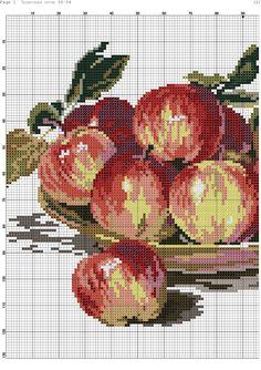 Znalezione obrazy dla zapytania fruits et légumes point de croix
