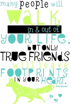 Footprints in your Heart Friendship Art Print