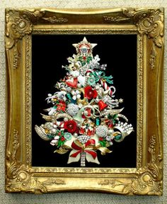 43 New Ideas for vintage christmas tree pictures products Jeweled Christmas Trees, Christmas Tree Art, Christmas Jewelry, Christmas Angels, Christmas Crafts, Vintage Christmas, Xmas, Arts And Crafts For Teens, Art And Craft Videos