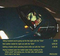 Priceless Speeding Ticket