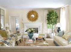 furlow gatewood designs | living room are covered in cowtan tout s tortola in multi fern ...