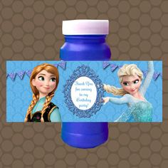 Frozen Elsa Anna Bubble Labels Wrappers Stickers Printable Uprint Digital DIY Instant Download by KDesigns2006